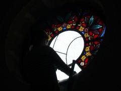 restuaration de vitraux, atelier celine le marhadour, aveyron